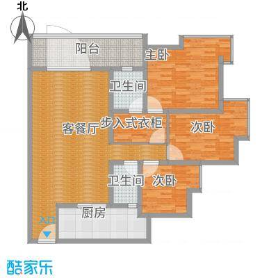 江畔如歌3居室建面132-副本
