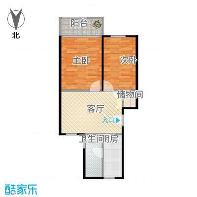 三塘南村64.00㎡面积户型