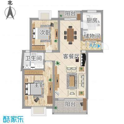 广洋苑二期_M型_98m2-家装
