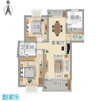 广洋苑二期_M型_98m2-家装-副本