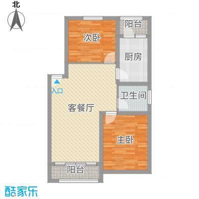 丽水湾90.00㎡丽水湾2室户型2室-副本