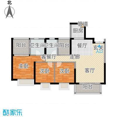 康联汇展中央128.00㎡2栋03、3栋04户型3室2厅-副本