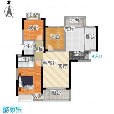 汉南天地115.00㎡汉南天地B户型3室2厅2卫-副本