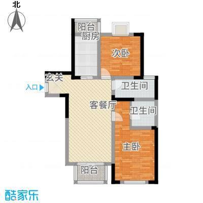 苏尚帝景18.00㎡一期5#E户型2室2厅2卫1厨