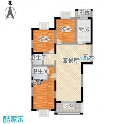 苏尚帝景138.00㎡一期6#F户型3室2厅2卫1厨