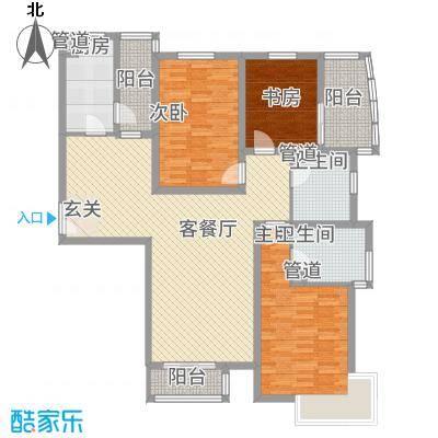 水云间A3(7#)户型3室2厅2卫1厨-副本