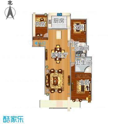 万国公馆134平米三室两厅两卫