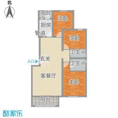 大唐四季花园135.28㎡D型户型3室2厅2卫1厨