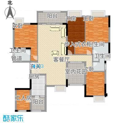 中海文华熙岸211.00㎡B6栋02单元户型5室2厅3卫-副本
