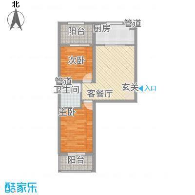 胜景茂园78.82㎡9号12号楼4户型2室2厅1卫1厨-副本