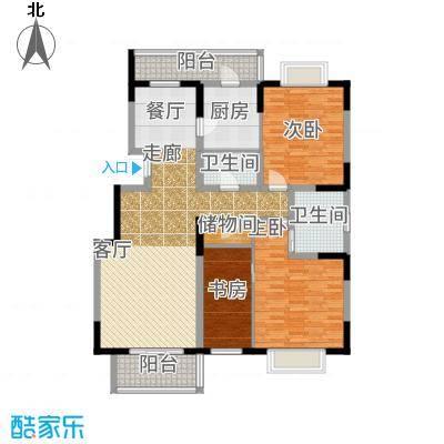 新明星花园三期房型户型3室2卫1厨-副本