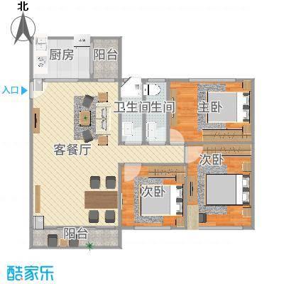 中山_中信美景康城3房94平米_2015-11-25-1637