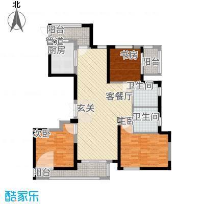 象山丹桂花园142.00㎡户型3室2厅2卫1厨-副本