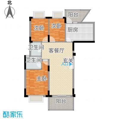 大信新家园户型3室2厅2卫1厨-副本