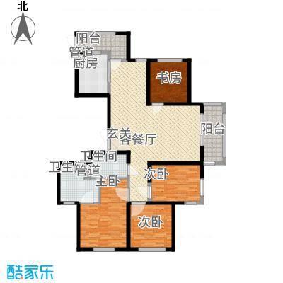 象山丹桂花园158.00㎡户型4室2厅2卫1厨-副本