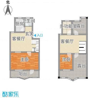 京东嘉苑82.00㎡户型2室