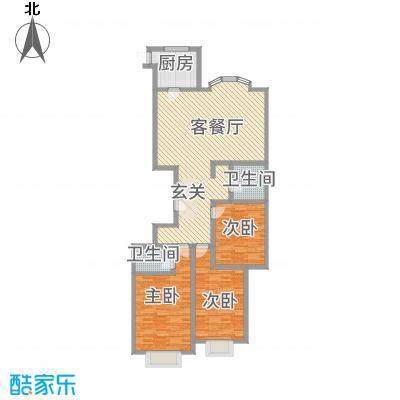 滨河27栋152.00㎡户型3室