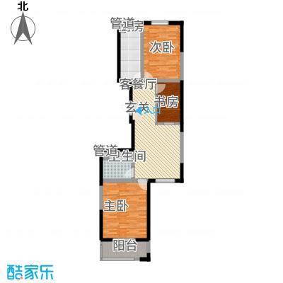 龙城佳苑C户型2室2厅1卫1厨