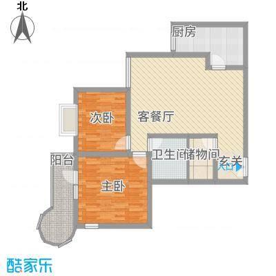 悦园豪庭P3户型2室2厅1卫1厨