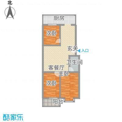宝嘉龙庭6.80㎡A户型2室1厅1卫1厨
