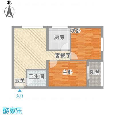 卡尔生活馆8.80㎡A户型2室1厅1卫1厨