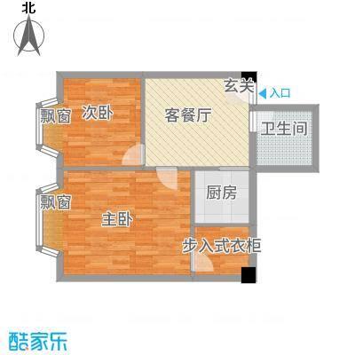 一栋洋房77.60㎡户型2室1厅1卫1厨