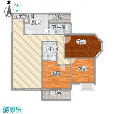 YOHO新天地138.12㎡13812户型3室2厅2卫1厨