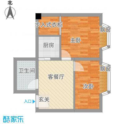 一栋洋房75.17㎡户型2室1厅1卫1厨