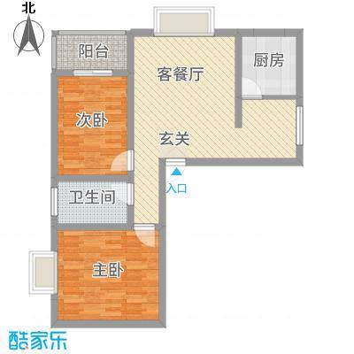 龙城佳苑5.70㎡957户型2室2厅1卫1厨