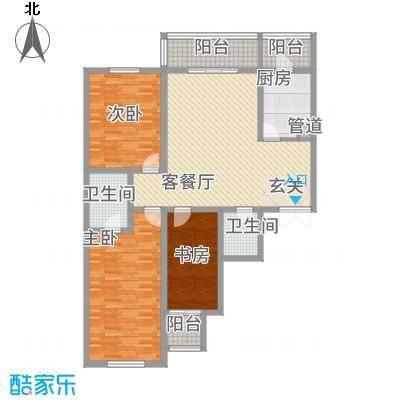 天馨逸家151.40㎡B3户型3室2厅2卫