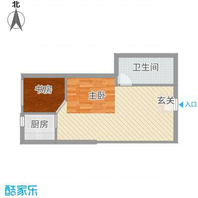 YOHO新天地54.60㎡5496户型2室1厅1卫1厨