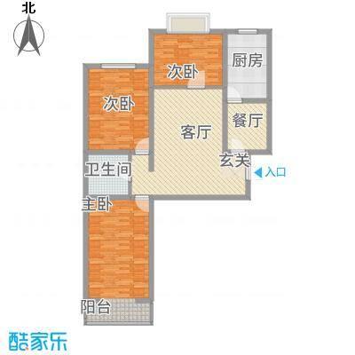 龙城佳苑133.30㎡1333户型3室2厅1卫1厨