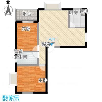 龙城佳苑5.70㎡A户型2室1厅1卫1厨