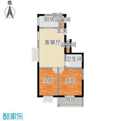 龙城佳苑12.40㎡B户型2室2厅1卫1厨