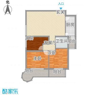悦园豪庭128.00㎡128西南户型3室2厅1卫1厨