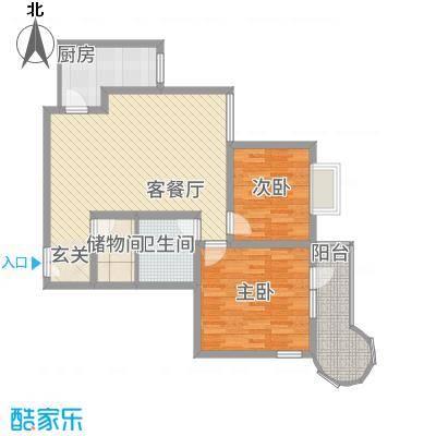 悦园豪庭8.35㎡P4户型2室2厅1卫1厨
