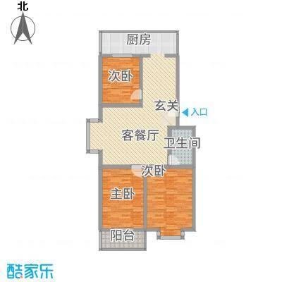 宝嘉龙庭11.00㎡E户型3室2厅1卫1厨