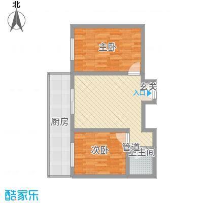 东秀苑三期81.45㎡四层六层两居户型2室1厅1卫1厨