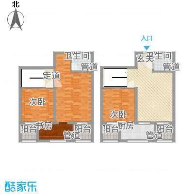 MOMA魔码二期5米4152.00㎡A2户型3室2厅1卫1厨