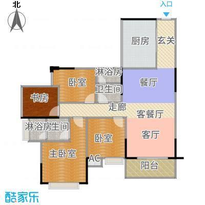 中惠香樟半岛97.00㎡5/6栋-06平面图户型1室1厅2卫1厨-副本