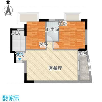 红花园8.00㎡户型3室