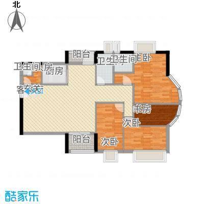 幸福家园128.00㎡户型3室