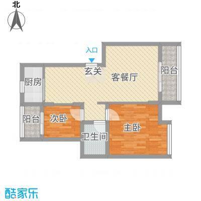 华昱苑7.00㎡户型2室