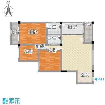 SOLO自由城145.50㎡宽景人生户型3室2厅2卫1厨