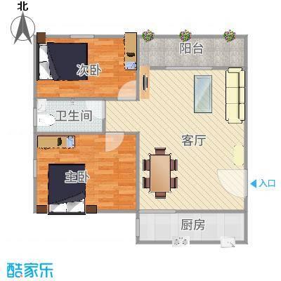 深圳_富达花园2室2厅1卫南68平方