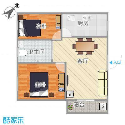 深圳_富达花园2室1厅1卫西52平方