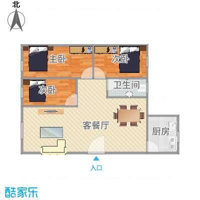 深圳_富达花园2室2厅1卫68平方