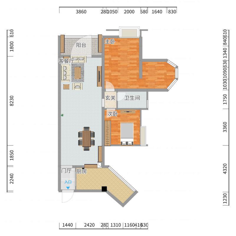 洛森堡·新殿户型图大全-成都实创装饰公司官网