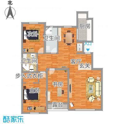 140平方三室两厅两卫-副本