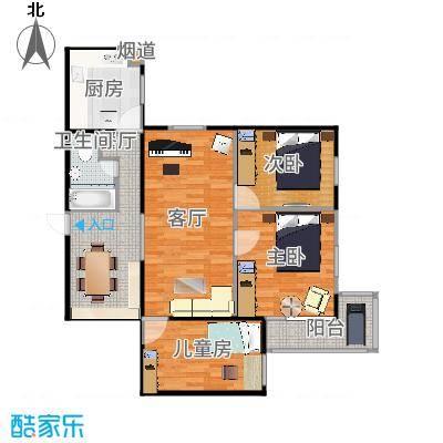 北京_安华西里三区_107平带家具